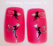Nail Art Sticker- Black Fairy Decal #459 JH059 Transfer Shiny Rhinestone