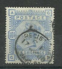 1883/91 Sg 183A 10/- Pale Ultramarine (GA) Good to fine used.