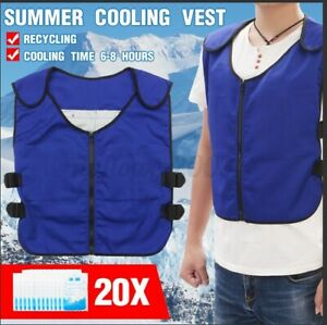 2Summer Ice Cooling Vest Anti-heatstroke Cold Vest Top for Outdoor Work