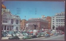 Vintage Postcard - Building of Fine Arts and the Bank of Mexico - 1952