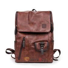 Mens Vintage Laptop Backpack Rucksack Messenger School Bag Travel Satchel NEW
