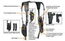 Black Vertical Shoulder Holster Fits FN FNX FNS 9 40 45 Ruger SR9 BRAND NEW
