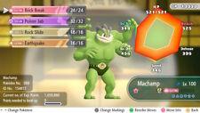 Pokemon Let's Go Shiny Machamp Max 6IV / AV [Fast Delivery] Original Owner