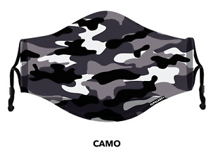 SUPALABS DEFEND Face Mask Premium Covering 5 layers of protection - Grey Camo