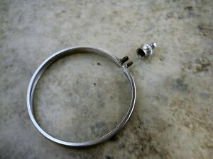 SILVER DOLLAR COIN BEZEL HOLDER SILVER PLATED NEW OLD STOCK