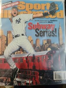 Derek Jeter New York Yankees Sports Illustrated No Label Subway Series 2000