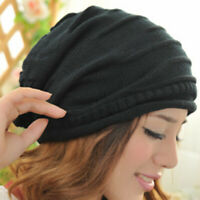 Women Men Winter Warm Baggy Beanie Knit Crochet Ski Cap Oversized Slouch Hat New
