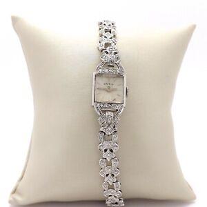 Art Deco Platinum 1ctw Diamond Croton Ladies Watch Bracelet with Appraisal