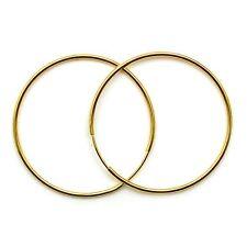 9ct gold hoop earrings 22 mm plain sleepers light weight (1 pair)