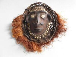PNG New Guinea Over modeled Mask upon Shell Mindabit Sepik River Melanesian Art