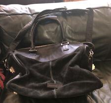 "Kenneth Cole Suede & Leather 20"" Duffel Bag Weekender Black"