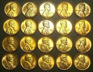 1934 - 1940-P,D,S CHOICE BU WHEAT CENTS - REALLY NICE SOLID CLEAN SET!