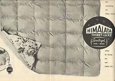 Publicité 1960  (Double page)  HIMALAYA THIBET LUXE couverture couette