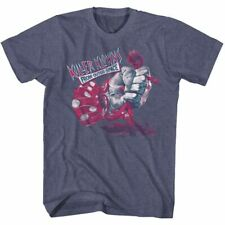 Killer Klowns From Outer Space Squeeze Vintage Blue Heather Adult T-Shirt