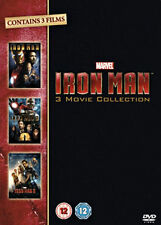 Iron Man 1-3 Trilogy (DVD, 2013, 3-Disc Set, Box Set)