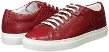 "Hugo Boss ""Corynna-VS"" women's red leather trainers size 5UK (38EU)"