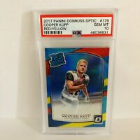 Cooper Kupp 2017 Panini Donruss Optic Red/Yellow PSA 10 Gem Mt Rated Rookie RC
