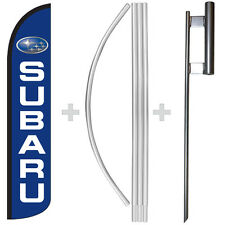 Subaru 15 Tall Windless Swooper Feather Banner Flag Amp Pole Kit