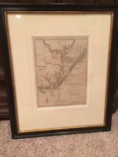 Rare 1781 Revolutionary War Map, Cape Fear River, Wilmington, North Carolina, Nc