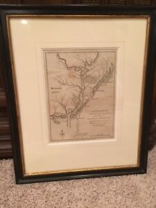 RARE 1781 Revolutionary War Map, Cape Fear River, Wilmington, North Carolina, NC