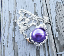 Final Fantasy 7 Purple Materia Necklace Mako Pendant Final Fantasy Jewelry