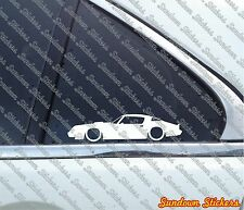 2X Low 1980 Pontiac Firebird Trans-Am 6.6 outline car STICKERS Lowered