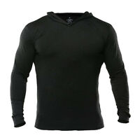 Men Gym Hoodies Bodybuilding Fitness Workout Muscle Clothing Long Sleeve T-shirt