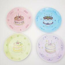 "Avon President's Club Birthday Gift Collection Plates Set of 4 Cake 6.5"" Dessert"