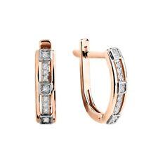Ohrhänger mi Brillanten Russische Rosegold 585 (14 Karat) Diamanten Ohrringe