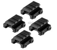 4Pcs Aluminum 0.5 Inch Riser Picatinny Weaver Rail Rifle Scope Mount 3-Slot Base