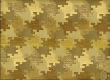 J Ennis Fabrics Modern Contemporary Houndstooth Taupe Olive Upholstery Fabric