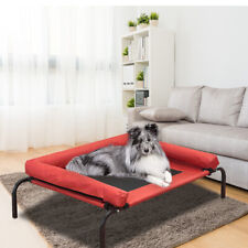 Pawz Pet Bed Heavy Duty Frame Hammock Bolster Trampoline Dog Puppy Mesh S Red