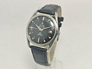 Vintage Titoni Airmaster 25 Jewels Automatic Date Mens Wrist Watch Antique