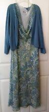 WOMEN'S GREEN PRINT 2-PIECE Dress Jacket / Sweater SET - STUDIO I - SIZE 18W