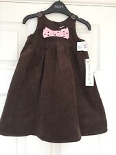 Girls Designer Maggie & Zoe Brown Dress Fully Lined Age 18-24 Months ⭐️BNWT⭐️