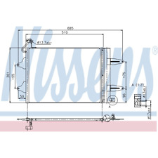 Kondensator Klimaanlage - Nissens 94628