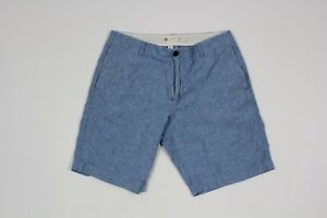 """J Crew Mens Size 36 Casual Chambray Lined Outdoor Summer Club 10"""" Shorts Blue"""