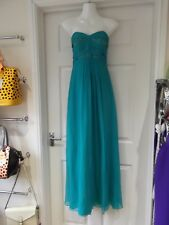 LAUNDRY BY SHELLI SEGAL Silk Evening Dress NWT Turquoise UK Size 8 US Size 6