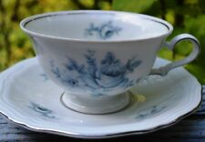 JOHANN HAVILAND CHIPPENDALE BLUE FLORAL CUP AND SAUCER SET IN MINT CONDITION