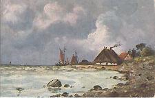 Künstler Postkarte - Motiv: Partie am Meer