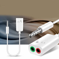 Audio Headset 3.5mm Mic Y Splitter Cable Adapter TRRS to 2 TRS`For Tabs, Laptops
