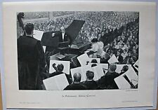 Ein Konzert mit Hans Guido Freiherr von Bülow. Holzschnit von Frühauf um 1890