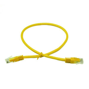 LinITX PRO SERIES CAT6 UTP ETHERNET PATCH CABLE - 0.5M YELLOW