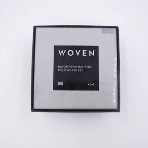 Malouf Woven Rayon From Bamboo Pillowcase Set King Ash Color MA25KKASBC