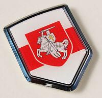 Belarus Belarussia Flag Car Chrome Emblem Decal Sticker