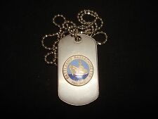 US Navy Battleship MASSACHUSSETTS BB-59 Stainless Steel Dog Tag + Ball Chain
