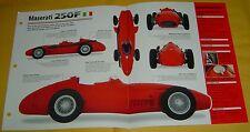 1956 Maserati 250F Race Car 2493cc 6 Cylinder IMP Info/Specs/photo 15x9