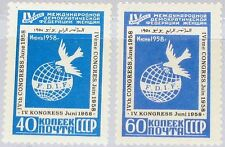 RUSSIA SOWJETUNION 1958 2080-81 2064-65 4th Cong. Women´s Federation Dove MNH