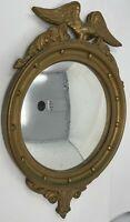 Antique Federal Eagle Bullseye Convex Wood Mirror