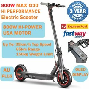 NEW 800W G30 Max Pro Electric Scooter 65km 10inch 35km/h Portable Foldable Bike
